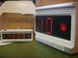 画像1: 70年代LUMITIMEルミタイム 光デジタル時計 田村電機デッドストック