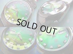 画像3:  セイコー  アドバン グリーン×イエローグラデーションの2層仕上げ文字盤 4面カットガラス 21石 オートマチック