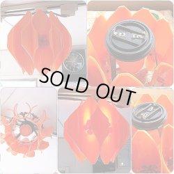 画像2: コイズミ 花柄オレンジ照明 昭和レトロポップ