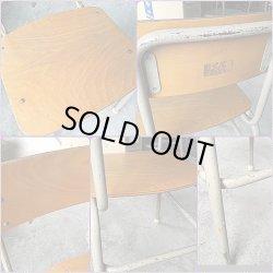 画像3: 昭和レトロ 学校机 椅子セット 勉強机 学習机 木製天板 古い