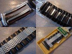 画像3: ベアー71バネ式ステンレス&黒 ブレス18〜22mm未使用デッドストック