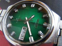 画像2: セイコー 56LM ロードマチック 深緑グラデーション文字盤 純正ブレス