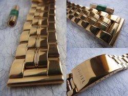 画像2: 金色 TITAN マルマン6 3連ベルト 18.19mm新品デッド未使用 定価12000円