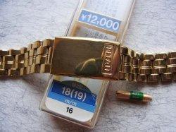 画像1: 金色 TITAN マルマン6 3連ベルト 18.19mm新品デッド未使用 定価12000円