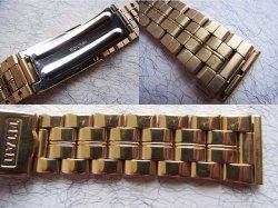 画像3: 金色 TITAN マルマン6 3連ベルト 18.19mm新品デッド未使用 定価12000円