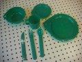 プラスチック パーティーセット 緑