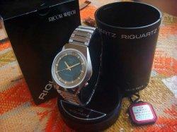 画像1: リコー クォーツ 水晶時計 9面カットガラス デッドストック