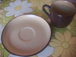 画像2: ノリタケ則武カップ&ソーサー FOLK STONE 茶色 バラ売りセット販売可能 デッドストック