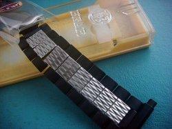 画像1: ベアー71バネ式ステンレス&黒 ブレス18〜22mm未使用デッドストック