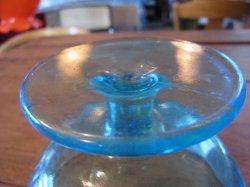 画像3: 青ガラスコップ アイスクリーム カキ氷 レトロ