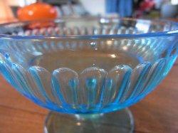 画像4: 青ガラスコップ アイスクリーム カキ氷 レトロ