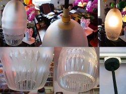 画像2: 厚みのあるカットガラス照明