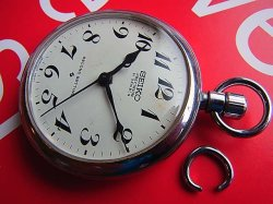 画像1: 19セイコー 6110A 鉄道懐中時計 セコンドセッティング 21石 手巻き  最終型
