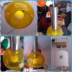 画像2: ペンダントライト 黄色ガラス ナショナル