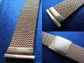金色 イタリア製 最高級の伸縮ブレス エルミテックス 19ミリ