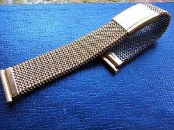 画像3: 金色 イタリア製 最高級の伸縮ブレス エルミテックス 19ミリ