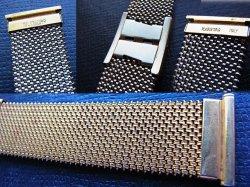 画像2: 金色 イタリア製 最高級の伸縮ブレス エルミテックス 19ミリ