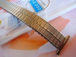 画像1: バンビ5 金色 伸び伸びレディース ベルト 17.4mm 新品デッドストック