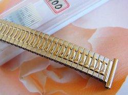 画像1: バンビ7 金色 伸び伸びレディース ベルト 10mm 新品デッドストック