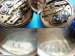 画像3: 商館時計 935銀製ケース シリンダー式 無銘 OH済み