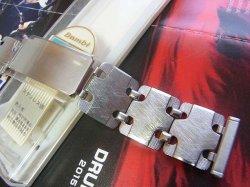 画像1: バンビ40 ステンレス ブレス 20mm変わったバックル未使用デッドストック70年代