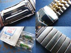画像3: バンビ50 弓カンコンビ ステンレスベルト Wロック10.18.20mm 未使用デッドストック70年代