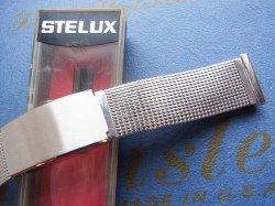 画像1: ステラックス(STELUX)10 メッシュ?ステンレスベルト20mm 未使用デッドストック