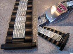 画像2: ベアー71バネ式ステンレス&黒 ブレス18〜22mm未使用デッドストック