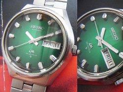 画像1: セイコー 56LM ロードマチック 深緑グラデーション文字盤 純正ブレス