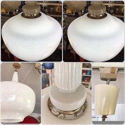 画像4: ナショナル 松下電器 乳白色ガラス白熱灯照明 昭和レトロ