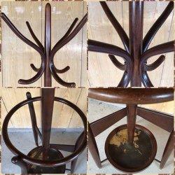 画像4: オールド 秋田木工 曲木のレトロなコートハンガー