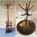 オールド 秋田木工 曲木のレトロなコートハンガー