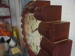 画像1: 木目調 プラスチック セイコー 掛け時計 電池式