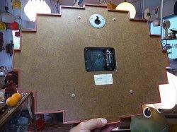 画像4: 木目調 プラスチック セイコー 掛け時計 電池式