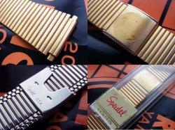 画像2: 金色 米SPEIDEL  バネ式 中留めブレス 17~22mm デッドストック