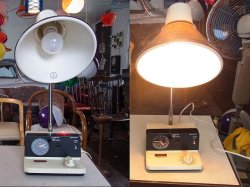 画像1: 日立 電気スタンド 転倒時安全スイッチ付き 時計動きません