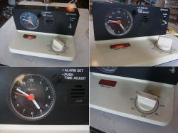 画像2: 日立 電気スタンド 転倒時安全スイッチ付き 時計動きません