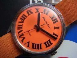 画像2: シチズン マリーンスター 希少なオレンジ文字盤 手巻き