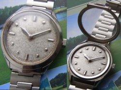 画像1: セイコー 盲人用腕時計 17石 紳士用手巻き 純正ブレス付き 6618A