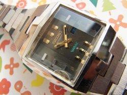 画像1: 1973年製造 キングセイコー バナック角型 3面カットガラス 自動巻き 5626-5050 ハイビート 純正ベルト