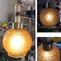 アンバー模様 白熱灯照明器具 昭和レトロ