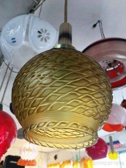 画像4: アンバー模様 白熱灯照明器具 昭和レトロ