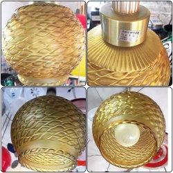 画像2: アンバー模様 白熱灯照明器具 昭和レトロ