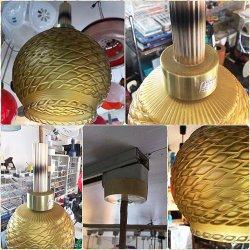 画像3: アンバー模様 白熱灯照明器具 昭和レトロ