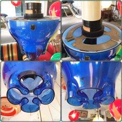 画像2: 東芝 変わった形のスイッチ付き照明 ブルー&ホワイト