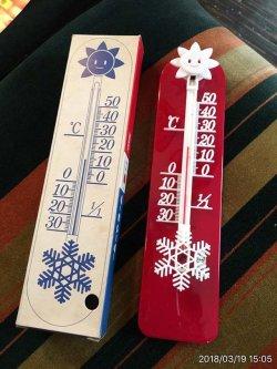 画像1: 昭和レトロ Hakko サーモメーター 温度計 箱付きデッドストック