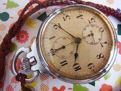 画像1: セイコー 精工舎 日本軍 夜行秒時計一型乙 軍用懐中時計 クロノグラフOH済