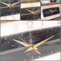 画像3: 大理石 東京時計 TOKYO CLOCK ゼンマイ巻き 置時計 昭和レトロ
