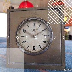 画像1: 東京時計 TOKYO CLOCK スタンド ゼンマイ手巻き 置時計 昭和レトロ
