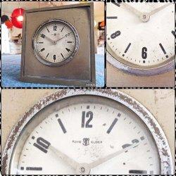 画像4: 東京時計 TOKYO CLOCK スタンド ゼンマイ手巻き 置時計 昭和レトロ